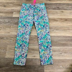 Lilly Pulitzer South Ocean Skinny Crop Size 0 NWT